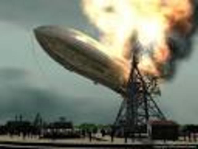 Hindenburg explodes