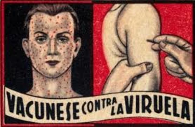 La primera vacunba contra la viruela