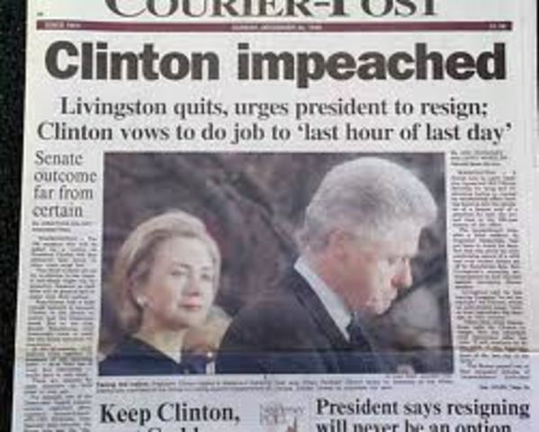 Clinton Impeached from office