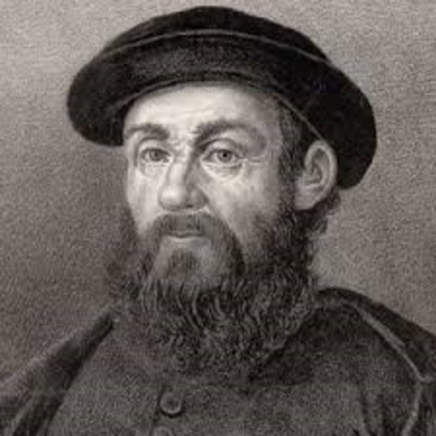 Ferdinand Magellan set out from Spain with five ships across Atlantic to South America