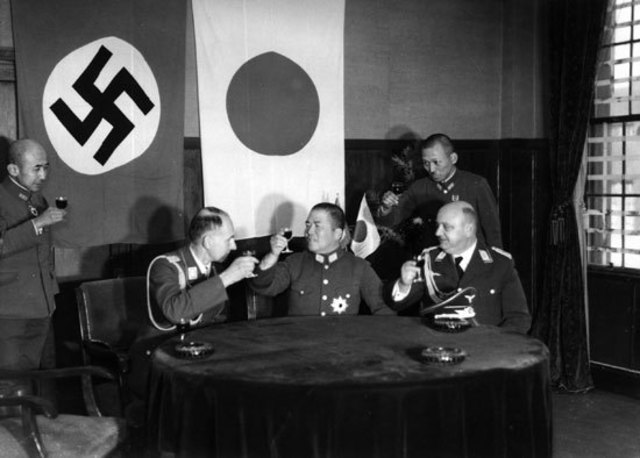 Japan, Germany, Italy become the Axis