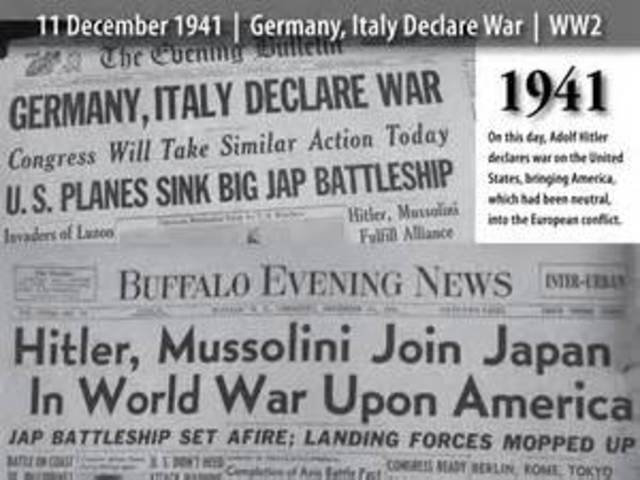 Germany/Italy declare war on U.S.