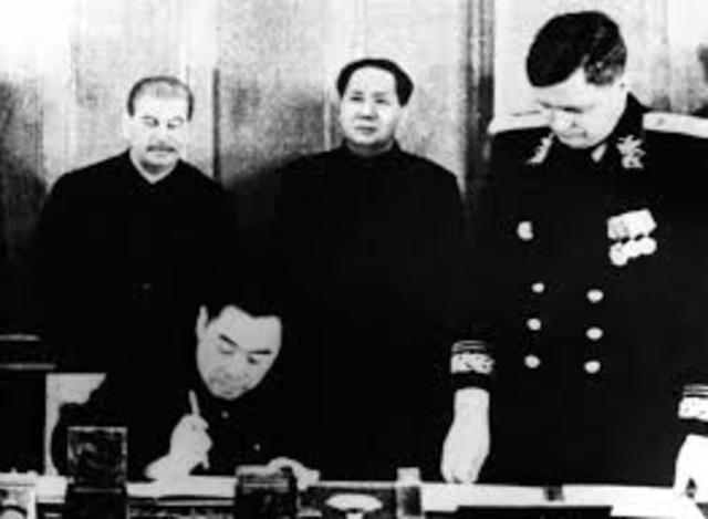Soviet and Chinese Form Alliance