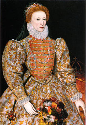 1558 Elizabeth I becomes queen of England