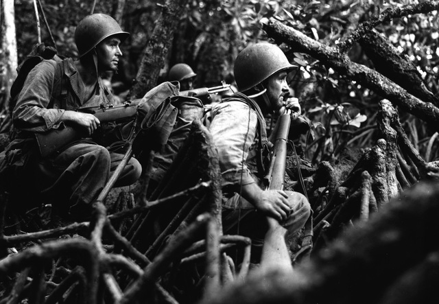 US troops halt the Japanese island-hopping advance towards Australia at Guadalcanal in the Solomon Islands.