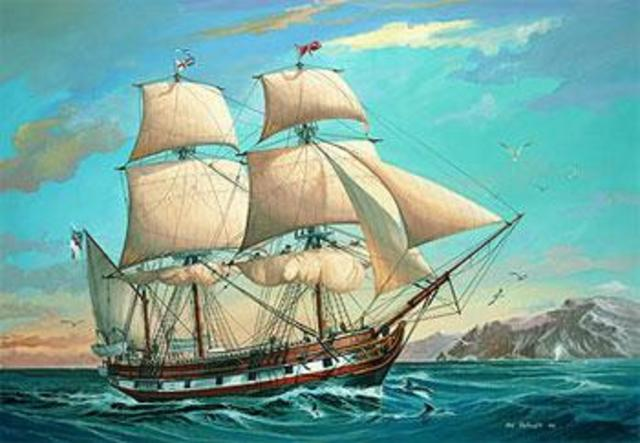 Darwin departs on the HMS Beagle
