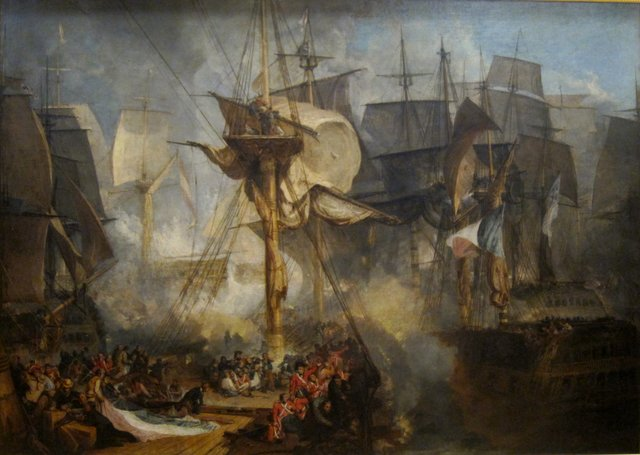 British defeat French and Spanish at Trafalgar