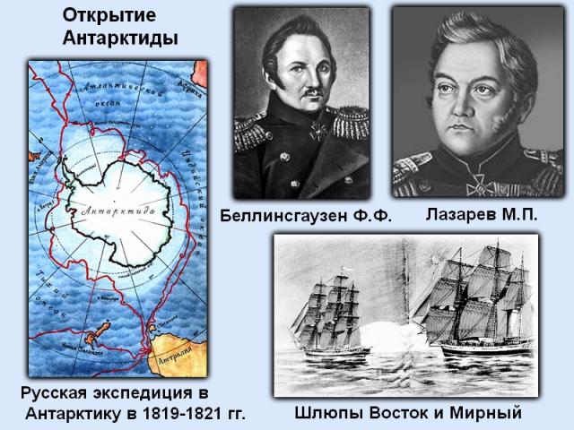 Ф.Ф.Белинсгаузен и М.П.Лазарев