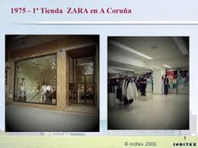 Apertura de la primera tienda ZARA