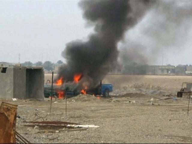 Truck Bombing in Balad Ruz, Iraq.
