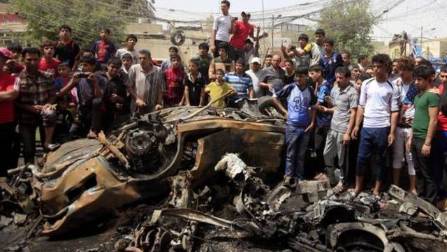 Triple car bombing and suicide bombing