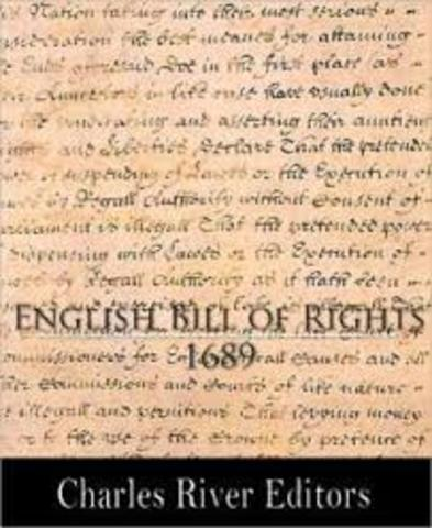 English Bill of Rights is passed