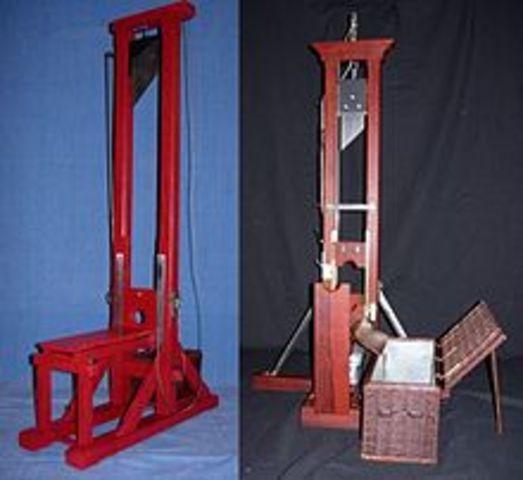 Joseph-Ignace Guilltin proposed the use of the guillotine