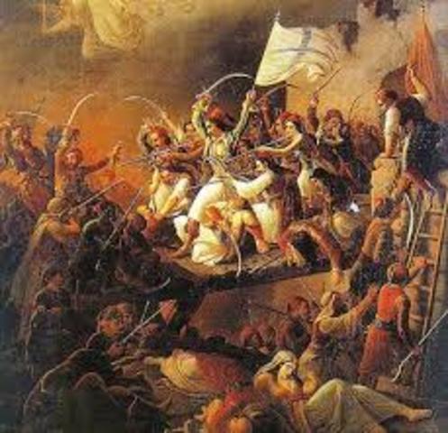 En Grecia se produjo una insurreccion contra el imperio turco