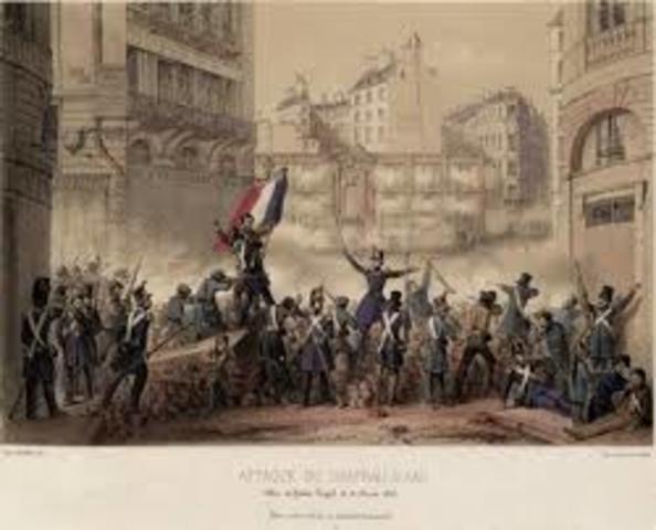 Inicio en francia de las revoluciones de 1848