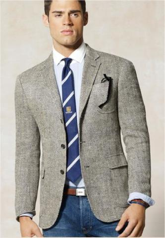 Classic mens suit worn in the 80's