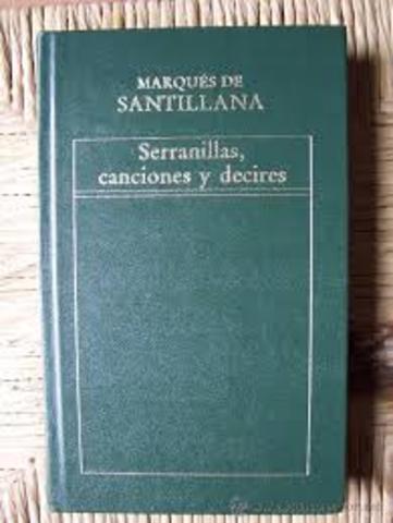 """Marques de Santillana """"serranilla"""""""
