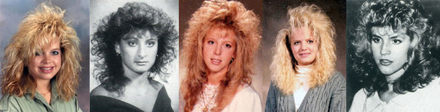 Senior yearbook pictures from the 80's.