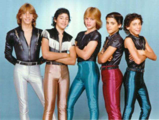 Teenage boys fashion in the 80's.