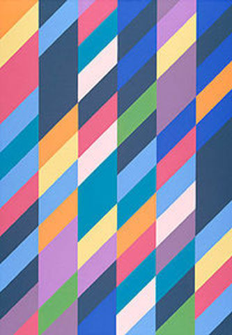 """Shadow Play""-Bridget Riley"