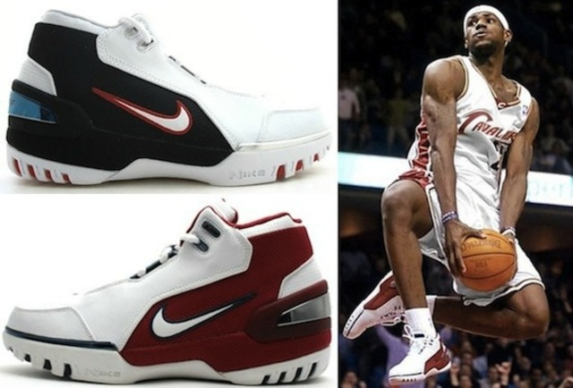 Lebron James signed with nike
