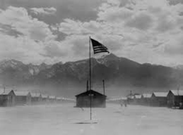 Leaves for Manzanar camp.