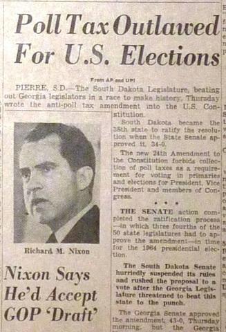 24th Amendment of 1964