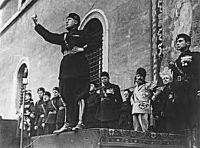 Mussolini takes over Italy's Government