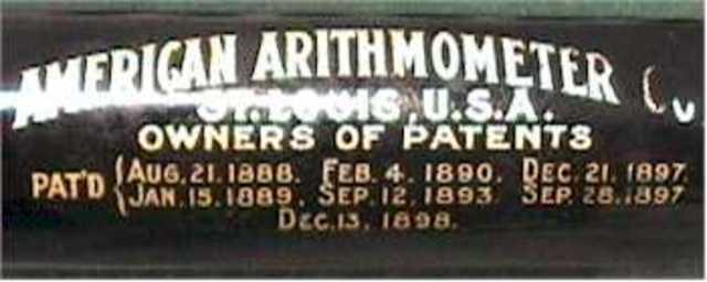 AMERICAN ARITHMOMETER