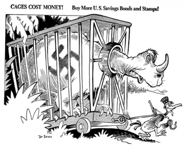 Dr. Seuss started selling cartoons to magazines