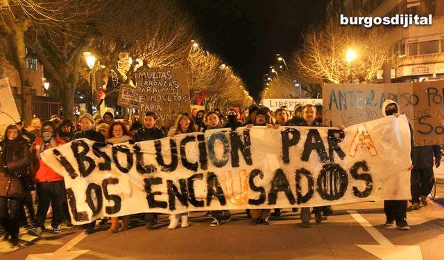 Marcha por la liberación de los detenidos durante los disturbios