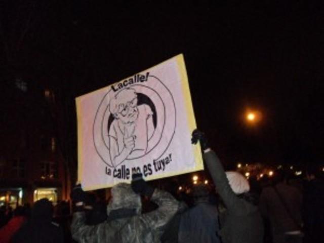 Protesta en la sede de Promecal