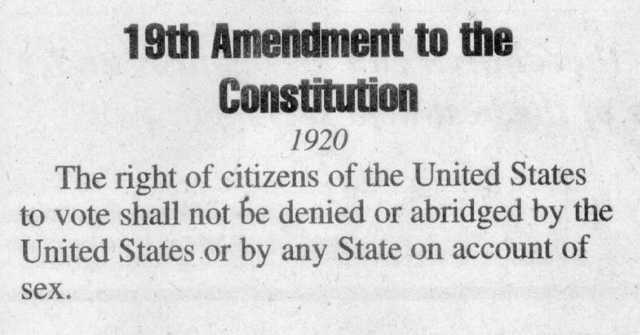 19th amendment date in Perth