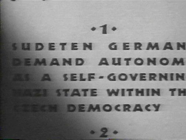 Hitler demands the Sudetenland from Czechoslovakia