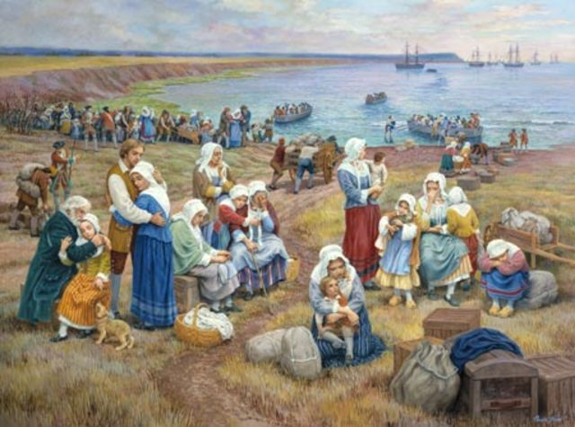 British uproated 4 thousand French Acadians fearing that they would attack them
