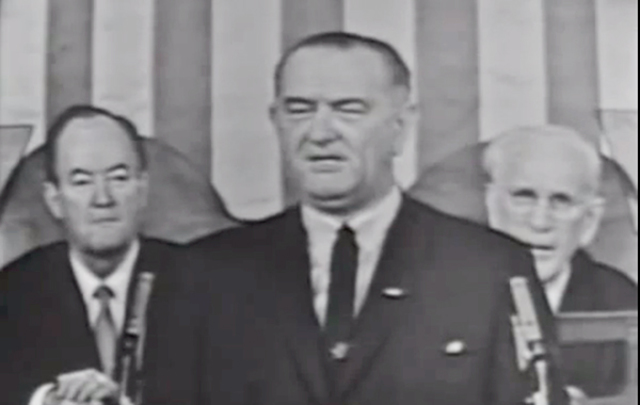 President Johnson urges passage of the Voting Rights Act of 1965.