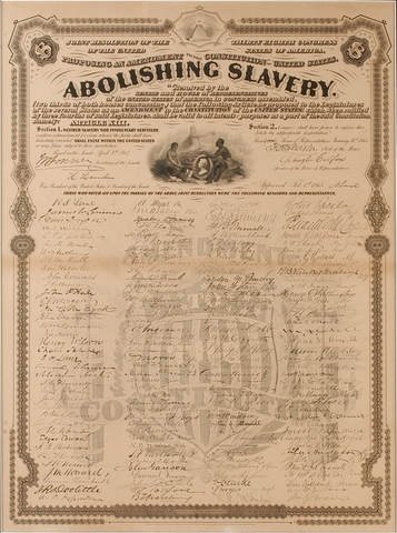 Slavery is Abolished by 13th Amendment