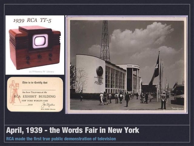 TV's at the World Fair