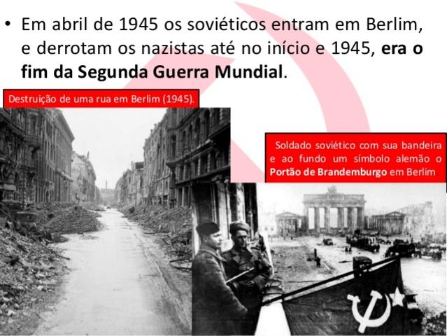 Os soviéticos entram em Berlim.