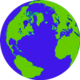 Green kids globe