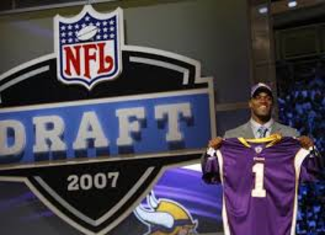 Adrian was drafted the the NFL