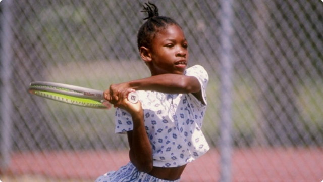 Serena's first win