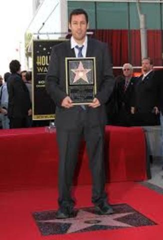 Gets Star on walk of fame