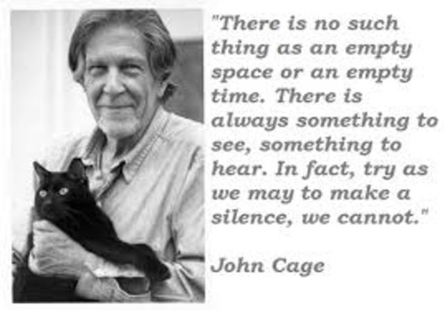 Cage creates 4'33