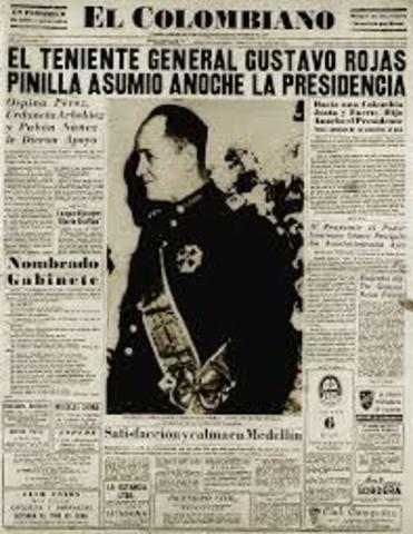 POSESION DE ROJAS PINILLA