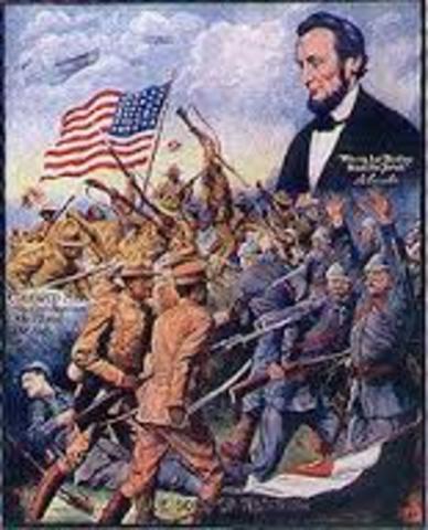 El presidente de Estados Unidos, Wilson, expone sus Catorce Puntos para la paz.