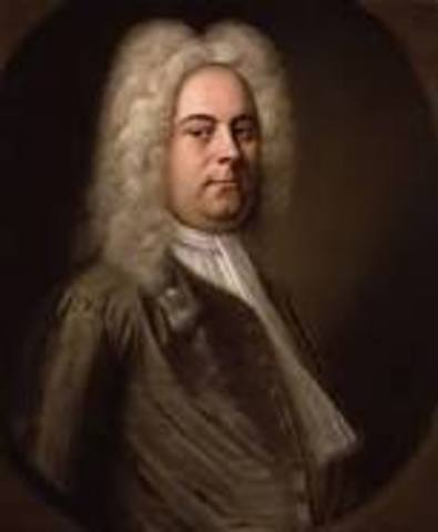 Handel arrived in London, England