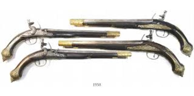 Pistols in the 1700's