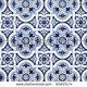 Stock photo blue pattern detail of portuguese glazed ceramic tiles 93955174