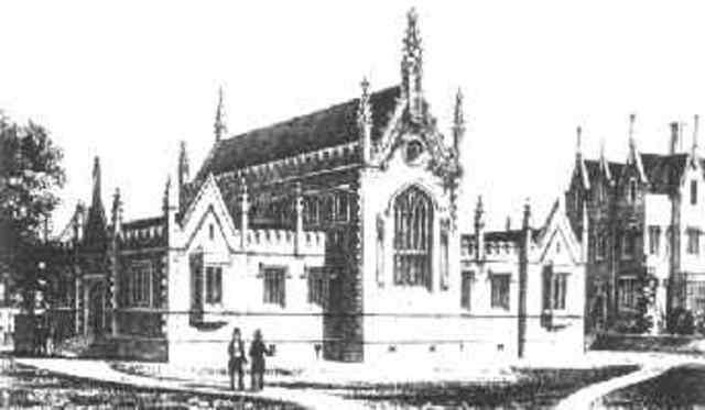 Wallace se enroló como maestro en Collegiate School in Leicester como maestro de dibujo y cartografía.
